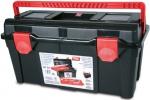 Ящик для инструментов черный + 2 поддона + футляр, ручка патент №35, TAYG, 135002