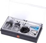 Аэрограф, сопло 0,3 мм, верхний бачок, комплект принадлежностей, 8 предметов, МАСТАК, 678-108