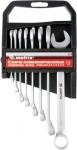 Набор ключей комбинированных, 6 - 22 мм, 9 шт., CrV, матовый хром, MATRIX, 15410